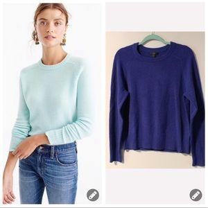 J Crew Holly dark blue wool crew neck sweater 2184